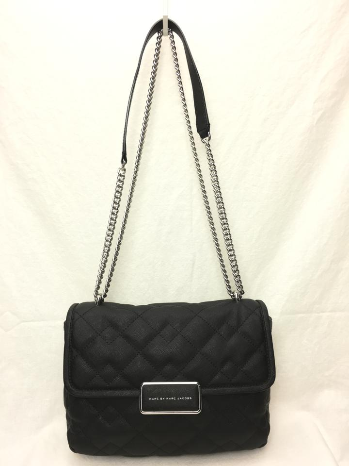 0a34cdef0289 Marc by Marc Jacobs Quilted Rebel 24 Black Coated Leather Cross Body ...