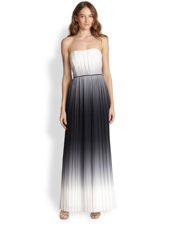 MILLY Ombre Monica Strapless Gown Long Formal