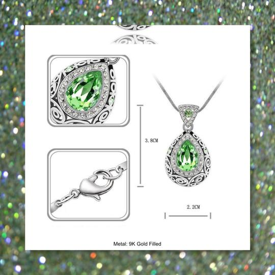 Other New Peridot 9k White Gold Filled Pendant