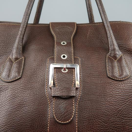 Tod's Tote Oversized Leather Brown Travel Bag