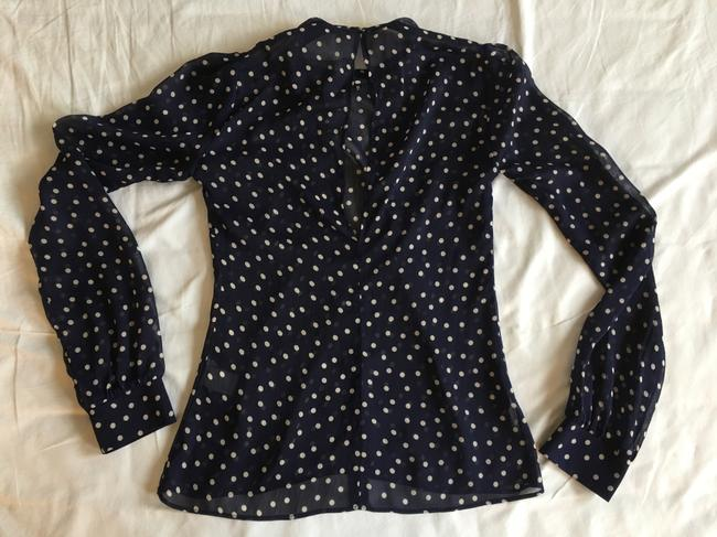Reformation Top Navy Blue