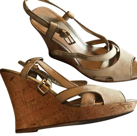 Preload https://item5.tradesy.com/images/saks-fifth-avenue-off-white-gold-and-tan-cork-wedges-size-us-9-regular-m-b-23241829-0-1.jpg?width=440&height=440