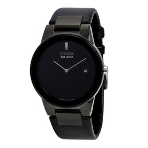 Citizen Eco Drive 40 mm Axiom Black Dial Black Leather Men's Watch