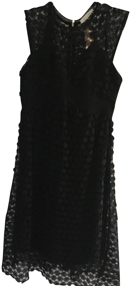 50a1c87e163 Anthropologie Black Mid-length Cocktail Dress Size 12 (L) - Tradesy