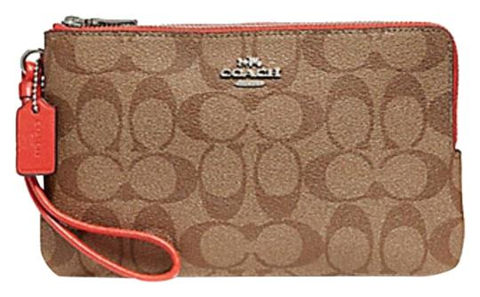 Preload https://img-static.tradesy.com/item/23242022/coach-khaki-orange-double-zip-in-signature-f16109-wallet-0-1-540-540.jpg