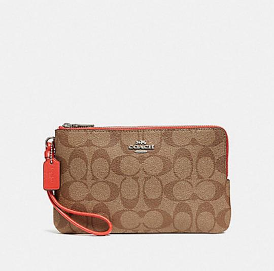 Coach Coach DOUBLE ZIP WALLET IN SIGNATURE F16109