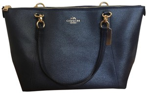 Coach Satchel in Navy Blue Midnight