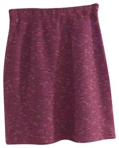 St. John Mini Skirt Lilac Tweed
