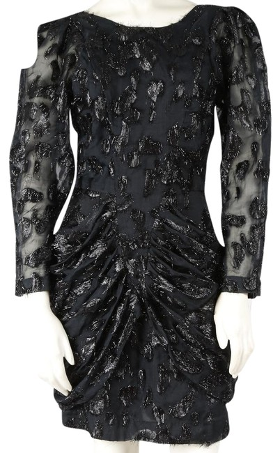 Preload https://item3.tradesy.com/images/h-and-m-black-trend-long-sleeve-short-cocktail-dress-size-4-s-23242162-0-1.jpg?width=400&height=650