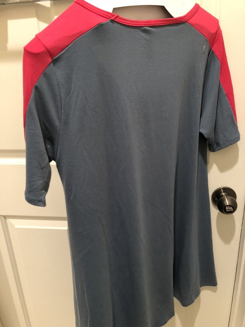 LuLaRoe T Shirt blue, hot pink