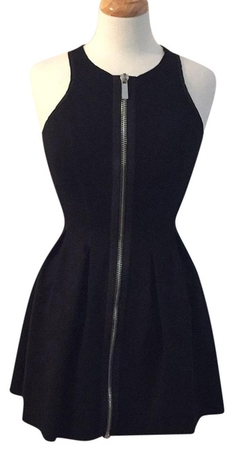 Preload https://img-static.tradesy.com/item/23242196/maje-black-front-zip-mini-short-cocktail-dress-size-4-s-0-1-650-650.jpg