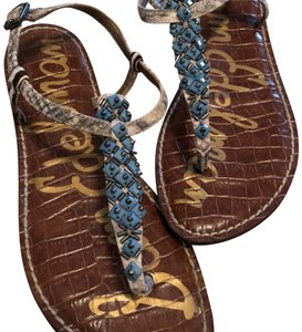 Sam Edelman blue and nude Sandals