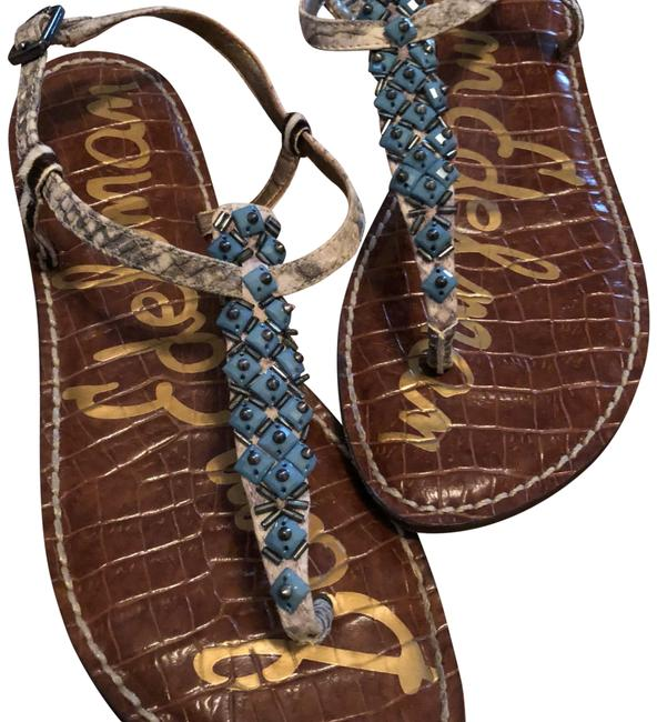 Item - Blue and Nude Sandals Size US 6 Regular (M, B)