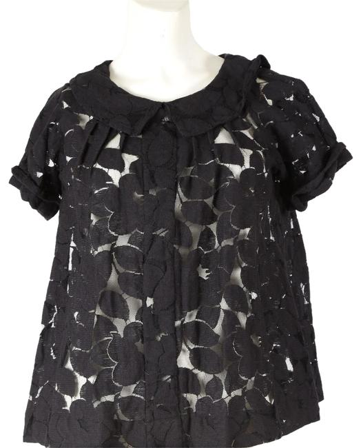 Preload https://img-static.tradesy.com/item/23242246/plenty-by-tracy-reese-black-cutout-short-sleeve-blouse-size-0-xs-0-1-650-650.jpg