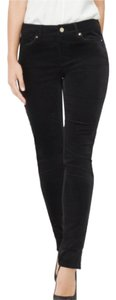 White House | Black Market Velvet Jeans Holiday Soft Straight Pants Black