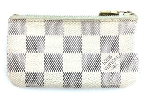 Louis Vuitton Damier Azur key cles Pocket Holder credit Card Case Coin Purse