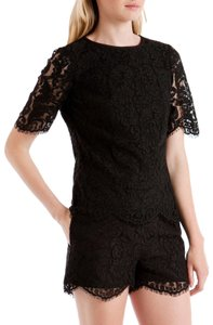 Ted Baker Lace Scalloped Top Black