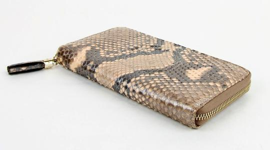 Gucci Gucci Python Snack Pink Metallic Pearl Zip Around Wallet 308004 5710