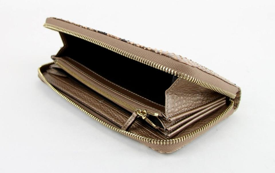 d75fdefed80e Gucci Gucci Python Snack Pink Metallic Pearl Zip Around Wallet 308004 5710  Image 10. 1234567891011