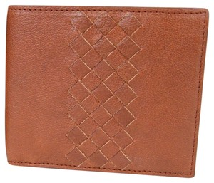 Bottega Veneta BOTTEGA VENETA Leather Bifold Wallet w/Woven Detail Brown 196207 6318