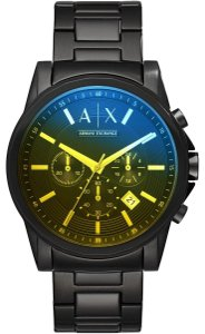 A|X Armani Exchange Black Stainless Steel Chronograph AX2513 Watch