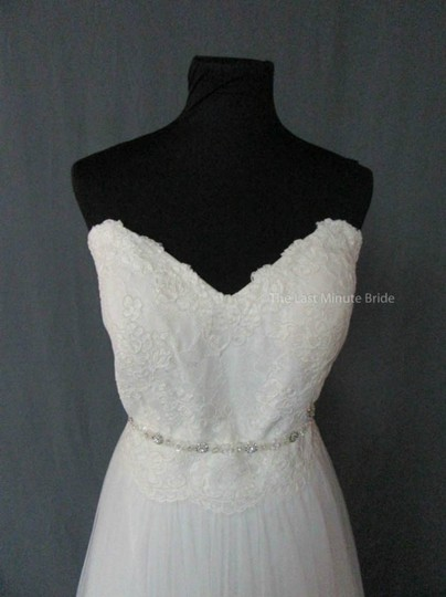 Stella York Ivory Lace 6025 Feminine Wedding Dress Size 16 (XL, Plus 0x)