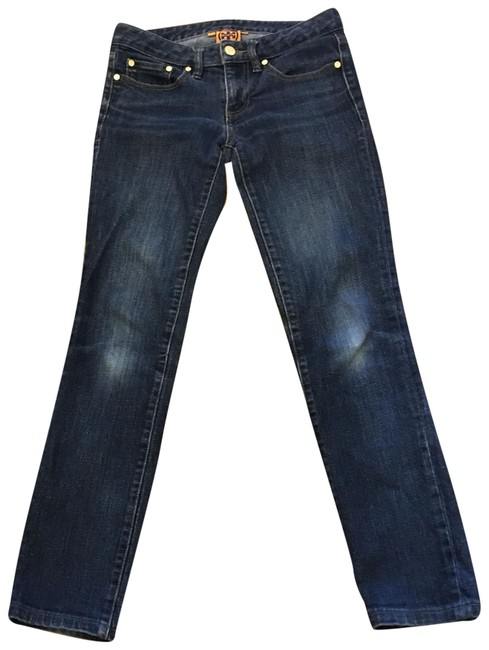 Preload https://img-static.tradesy.com/item/23242317/tory-burch-blue-distressed-skinny-jeans-size-0-xs-25-0-1-650-650.jpg