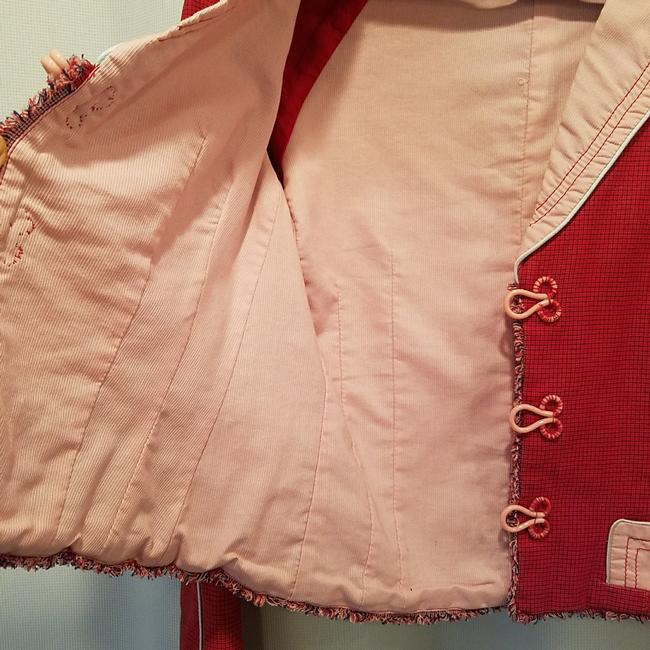 Marc Jacobs Pink and red cool piece!! So fun for work or just wear it with pair of jean Blazer