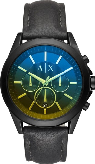 Preload https://item2.tradesy.com/images/ax-armani-exchange-black-leather-chronograph-ax2613-watch-23242326-0-1.jpg?width=440&height=440