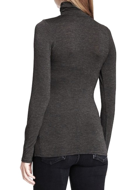 Loveappella Soft Solid Knit Comfy Turleneck Long Sleeves Perfect For Layering Versatile Top Grey