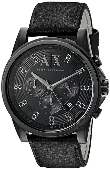 Preload https://item2.tradesy.com/images/ax-armani-exchange-black-leather-chronograph-ax2507-watch-23242341-0-1.jpg?width=440&height=440
