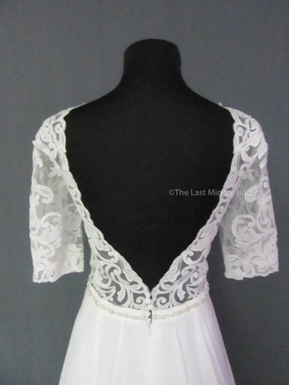 Maggie Sottero Ivory Lace Darcy 7ms983 Feminine Wedding Dress Size 12 (L)