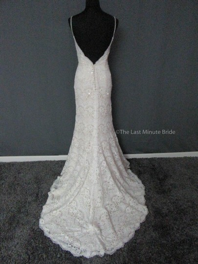 Maggie Sottero Ivory/Ltgold Lace Mietra 6mt843 Feminine Wedding Dress Size 6 (S)