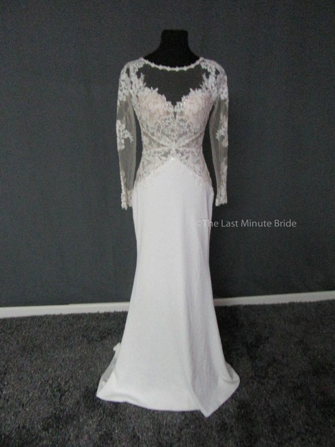 Maggie Sottero Ivory Lace Blanche 7ms375 Feminine Wedding Dress Size 4 (S) Maggie Sottero Ivory Lace Blanche 7ms375 Feminine Wedding Dress Size 4 (S) Image 1