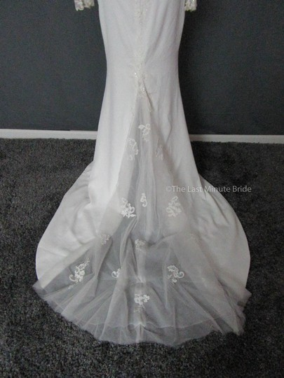 Maggie Sottero Ivory Lace Blanche 7ms375 Feminine Wedding Dress Size 4 (S)