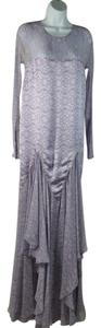 Purple Multi Maxi Dress by Thomas Wylde Maxi Resort Boho Sheer Silk Maxi Butterfly Print