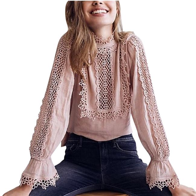 Preload https://item4.tradesy.com/images/free-people-pink-cream-one-victoria-blouse-size-6-s-23242493-0-1.jpg?width=400&height=650