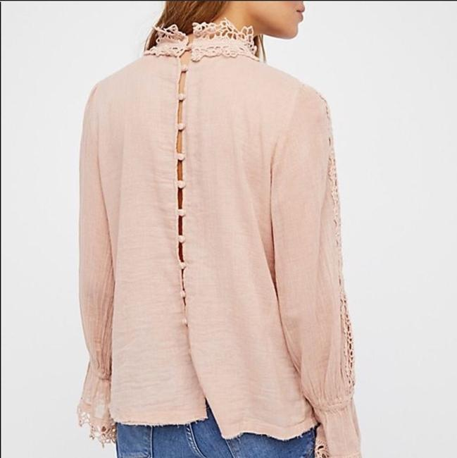 Free People Top Pink, Cream