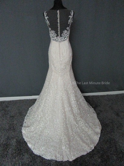 Maggie Sottero Ivory/Ltgold Lace Rebecca Ingram Adrian 7rc882 Feminine Wedding Dress Size 12 (L)