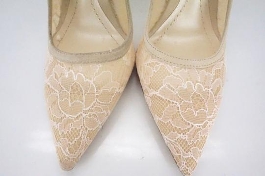 Dior Christian Classic 100mm Wedding Beige Pumps