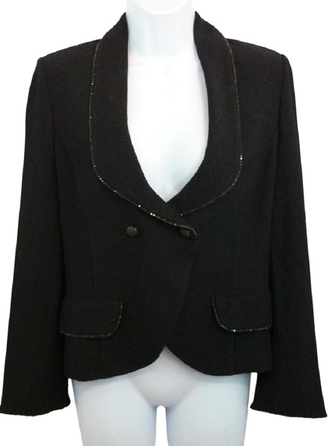 Preload https://item2.tradesy.com/images/st-john-black-evening-embellished-trim-knit-cocktail-jacket-blazer-size-4-s-23242546-0-1.jpg?width=400&height=650