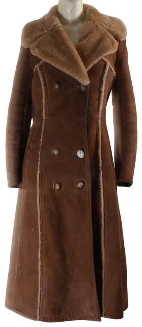 Item - Brown Suede Shearling Coat Size 8 (M)