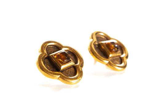 Lanvin Gold-Tone Clip On Grippoix Embellishment Earrings