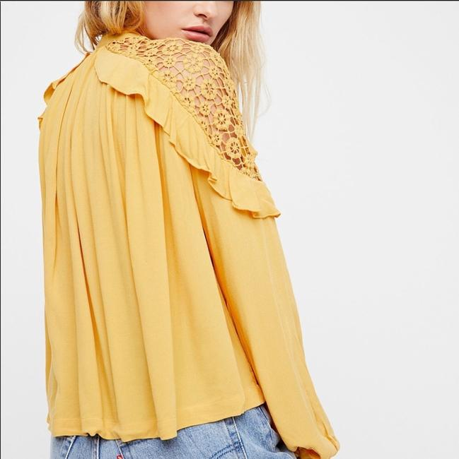 Free People Top Gold, Yellow