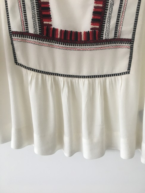 toile Isabel Marant Embroidered Silk Top White