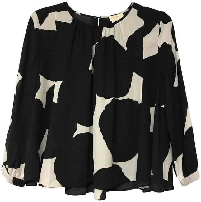 Preload https://img-static.tradesy.com/item/23242630/kate-spade-black-and-white-small-blouse-size-4-s-0-2-650-650.jpg