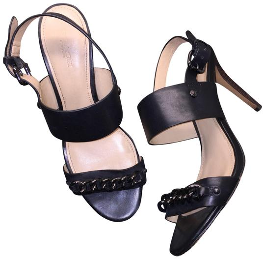 Preload https://img-static.tradesy.com/item/23242656/coach-black-raquella-gunmetal-chain-leather-minimalist-heels-sandals-size-us-85-regular-m-b-0-1-540-540.jpg