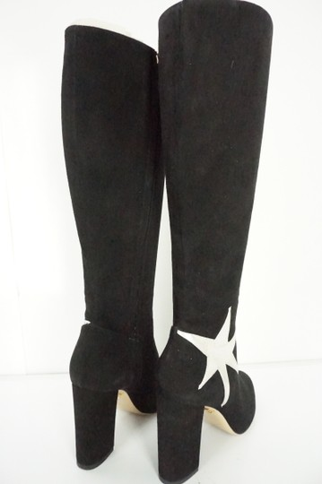 Charlotte Olympia Heel Ankle Star White Knee High Black Boots