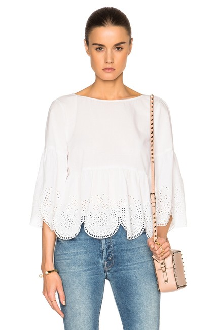 Preload https://img-static.tradesy.com/item/23242676/suno-white-ivory-eyelet-lace-crop-wbell-sleeves-blouse-size-10-m-0-0-650-650.jpg
