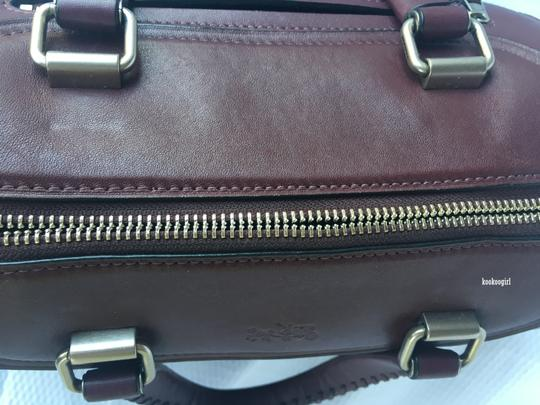 Coach Leather Crossbody Glovetanned Smooth Leather 37017 Satchel in Burgundy